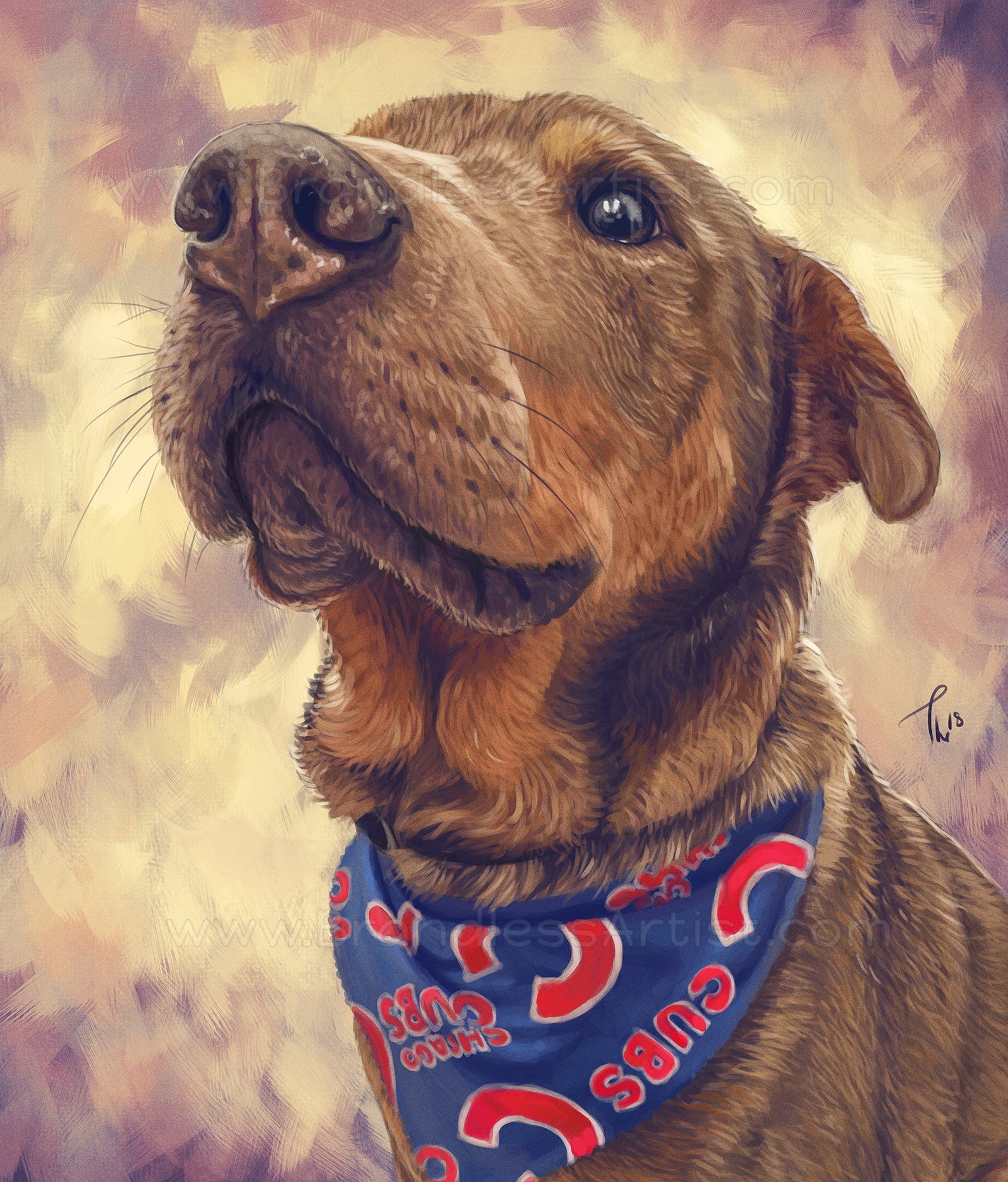 Dog Painting - Pet Sketches From Photo | Brandless Artist