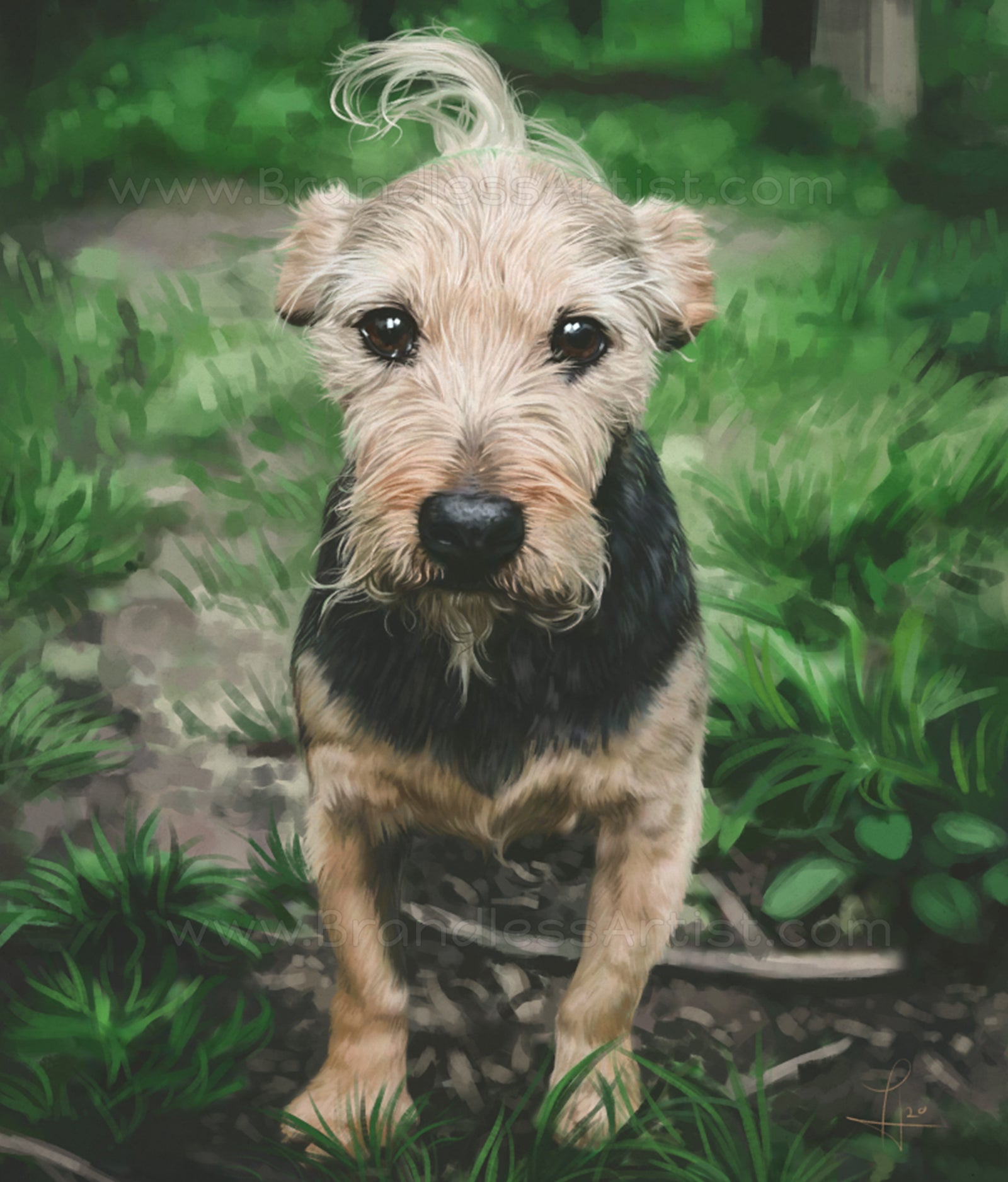 Dog Portrait Digital Painting - Custom Dog Art from Photo | Brandless Artist