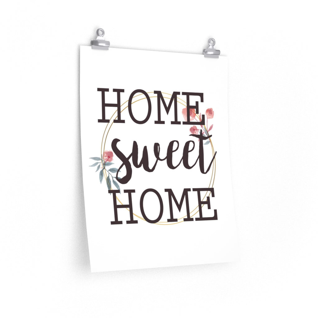 Home Sweet Home Wall Art with Floral Elements | Brandless Artist