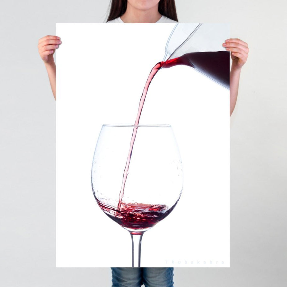 Elegant Red Wine Photography Wall Art for Wine Lovers - Brandless Artist