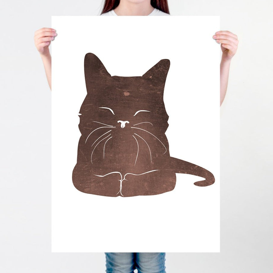Happy Cat Print - Kids Room Print | Brandless Artist