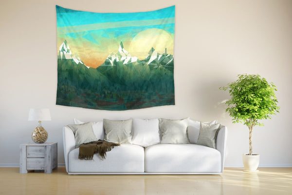 Green Mountain Tapestry - Brandless Artist