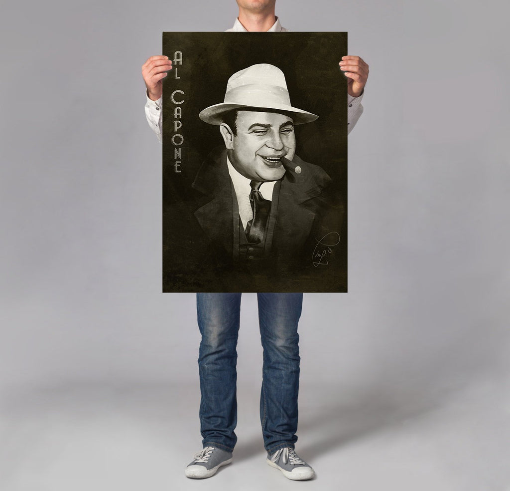 Al Capone Print Man Cave Decor - Large Art Print for Men | Brandless Artist