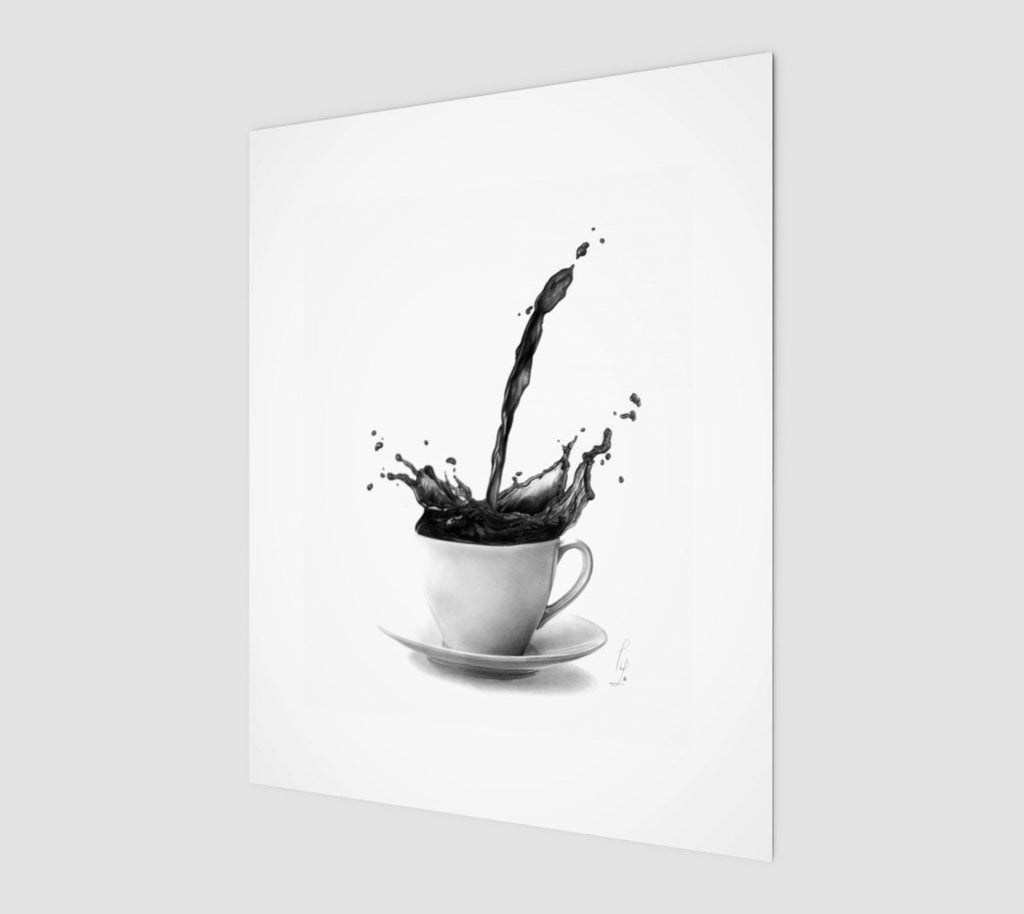 Coffee Poster Black and White Wall Decor | Coffee Lover Gift Kitchen Print | But first Coffee Print | Coffee Wall Art Decor | Brandless Artist
