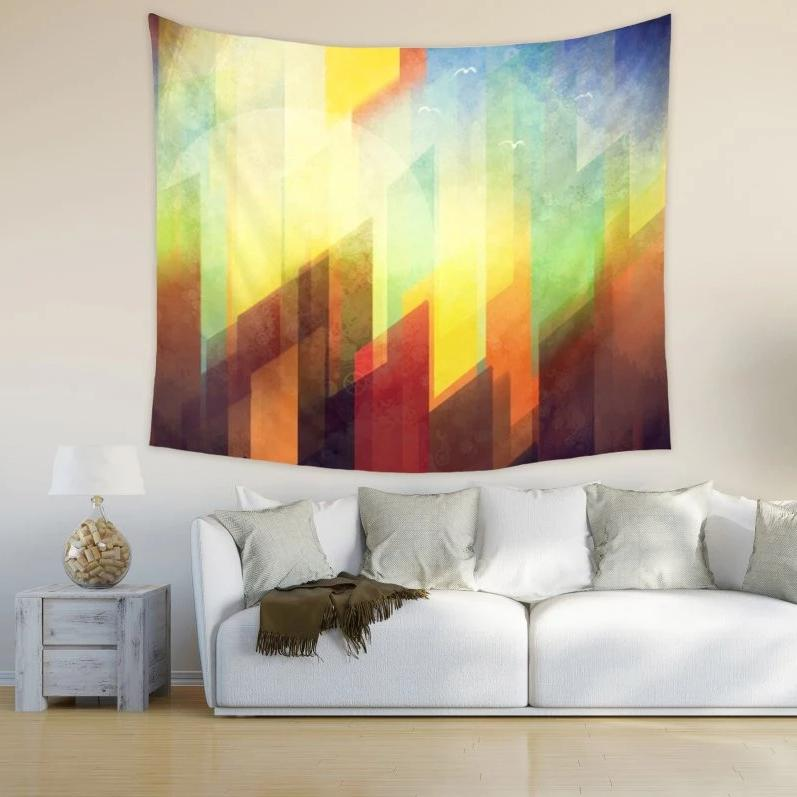 Colorful Urban Wall Tapestry Minimalist Wall Decor | Brandless Artist