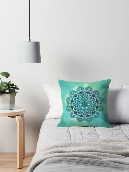 Green Mandala Pillow - Brandless Artist