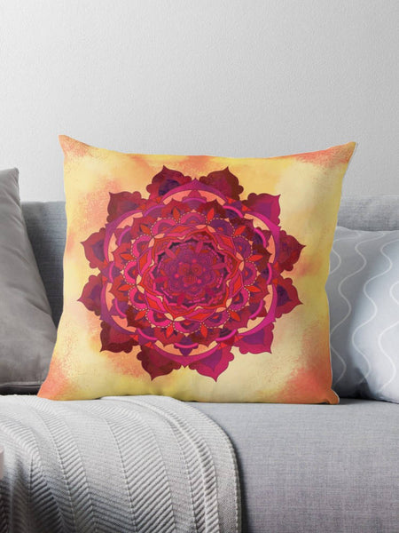 Sun Mandala Pillow - Brandless Artist
