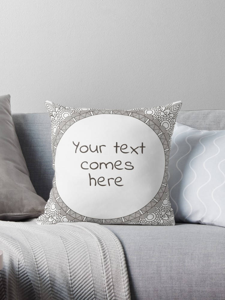 Custom Pillow with Personalized Quote - Typography Cushion | Brandless Artist