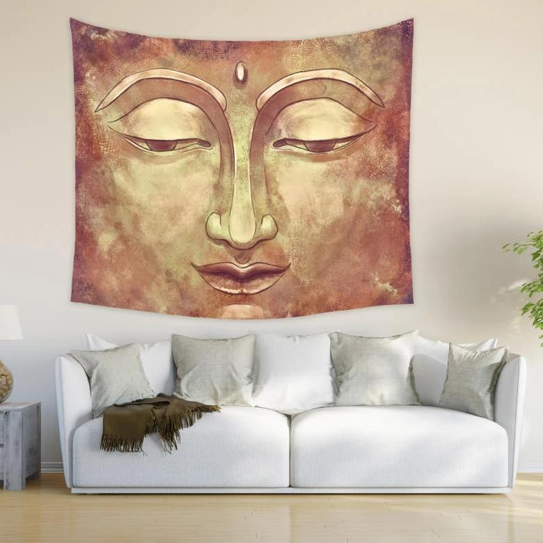 Buddha Tapestry Zen Wall Hanging for Meditation and Yoga Room | Brandless Artist