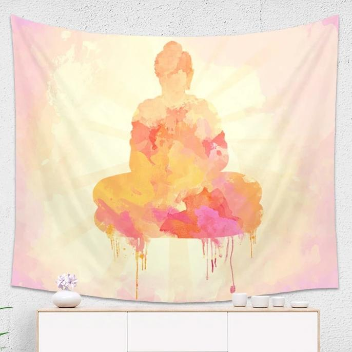 Yellow Buddha Tapestry - Brandless Artist