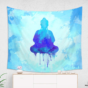 Blue Buddha Wall Tapestry Meditation Room Decor | Brandless Artist