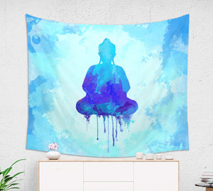 Blue Buddha Wall Tapestry - Brandless Artist