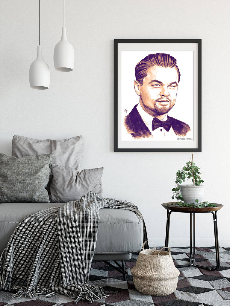 Leonardo DiCaprio Print | DiCaprio Painting Wall Decor | DiCaprio Artwork Poster Art | Large Wall Decor - Brandless Artist