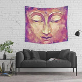 Rustic Buddha Tapestry in Gold and Pink Colors for Her, Living Room Decor | Brandless Artist