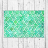 Rainy leaf Area Rug - Brandless Artist