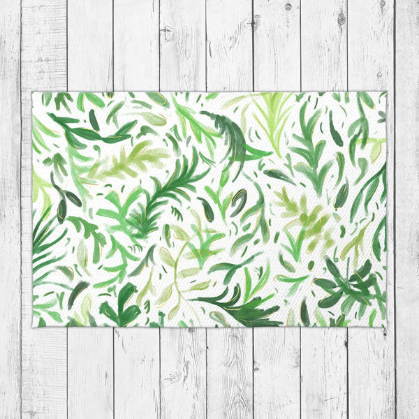 Green Leaves Rug - Brandless Artist