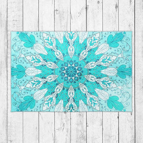 Sea Blue Mandala Rug - Brandless Artist