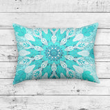 Rectangle Mandala Pillow, Blue Zen Home Decor Indian Cushion | Brandless Artist