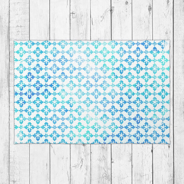 Sea Waves Accent Rug - Brandless Artist