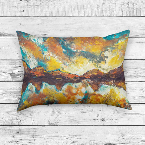 Rectangle Mountain Pillow - Brandless Artist
