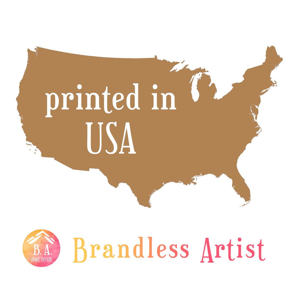 our bedding printed in USA - Brandless Artist