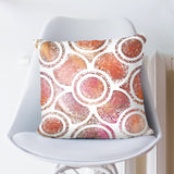 Geometrical Pillow - Orange Cushion Cover for Couch | Brandless Artist