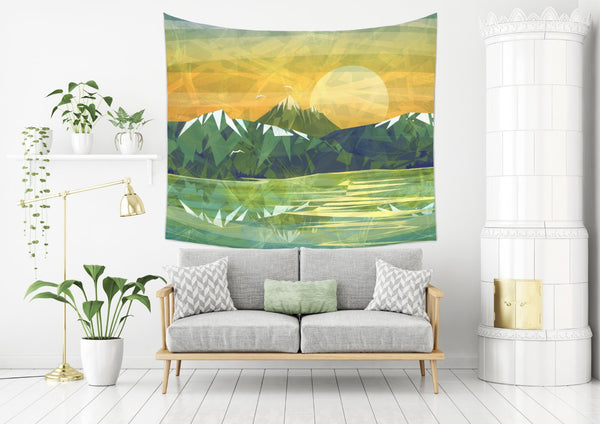 Rocky Mountain Tapestry - Brandless Artist