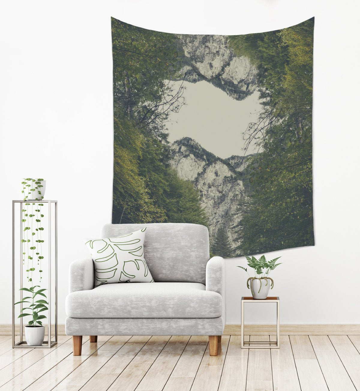 Mountain Photo Tapestry Wall Hanging for Living Room | Brandless Artist