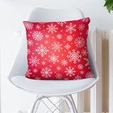 Red Christmas Pillow - Seasonal Snowing Throw Pillow | Brandless Artist