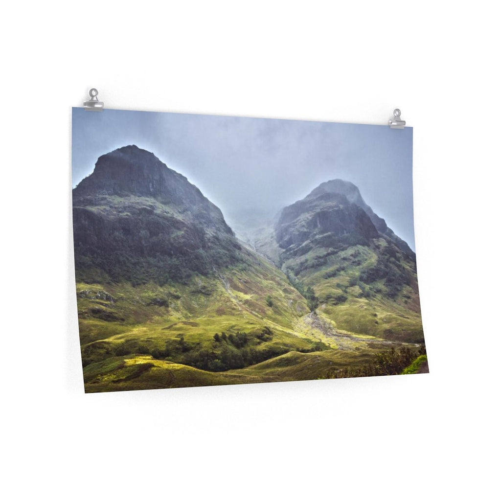 Mountain Wall Art | Scenic Landscape Art Print Of Scottish Mountain | Mountain Photo Print | Fog Nature Art Print Of A Mountain - Brandless Artist