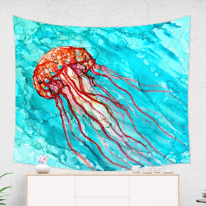Jellyfish Tapestry Underwater Wall Hanging for Living Room | Brandless Artist
