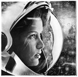Girl in Space Pencil Drawing Printed Poster by Thubakabra | Brandless Artist