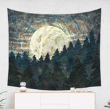 Moon Tapestry with Starry Sky Modern Wall Hanging for Dorm Rooms | Brandless Artist