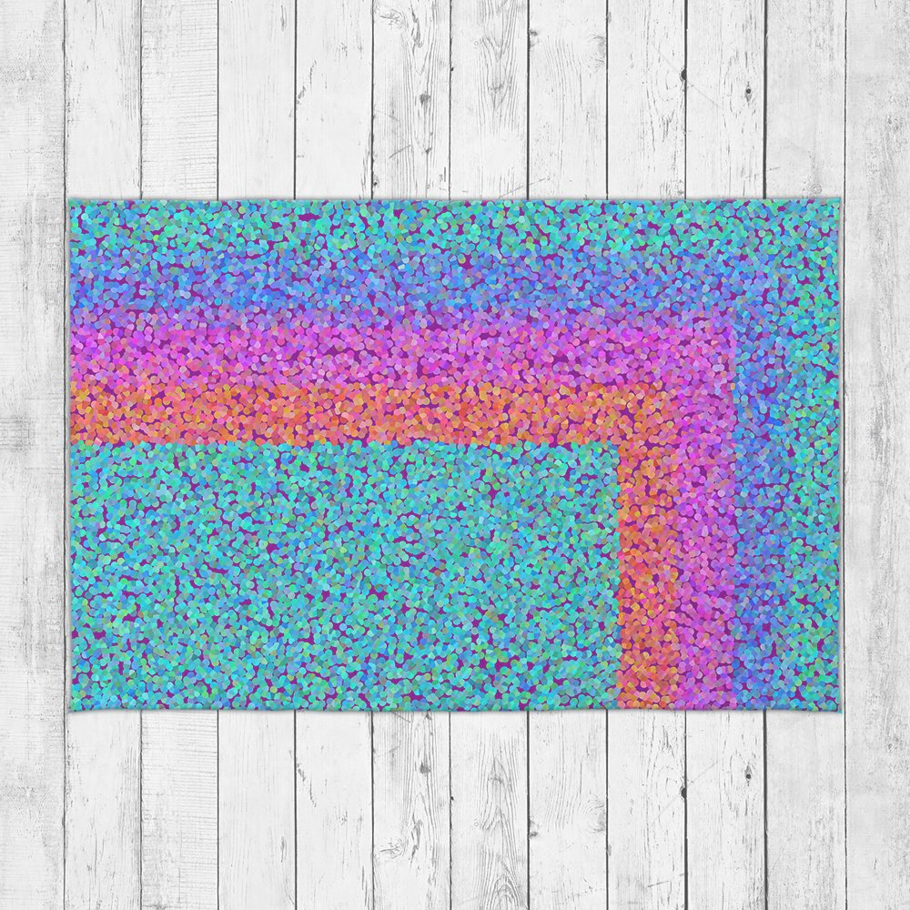 Retro Rainbow Accent Rug - Brandless Artist
