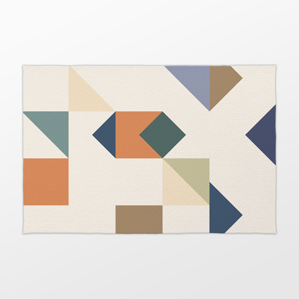 Geometric Fashion Accent Rug - Brandless Artist