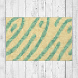 Yellow and Green Rug - Brandless Artist