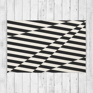 Black Stripes Rug - Brandless Artist