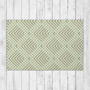 Geometric Stripes Pattern Rug - Brandless Artist