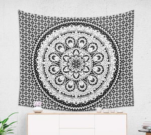 Traditional Black and White Mandala Wall Hanging - Brandless Artist