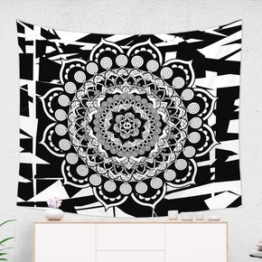 Black And White Mandala Tapestry - Yoga Decor | Brandless Artist