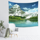 Scenic Tapestry Modern Wall Hanging with Mountain Painting | Brandless Artist