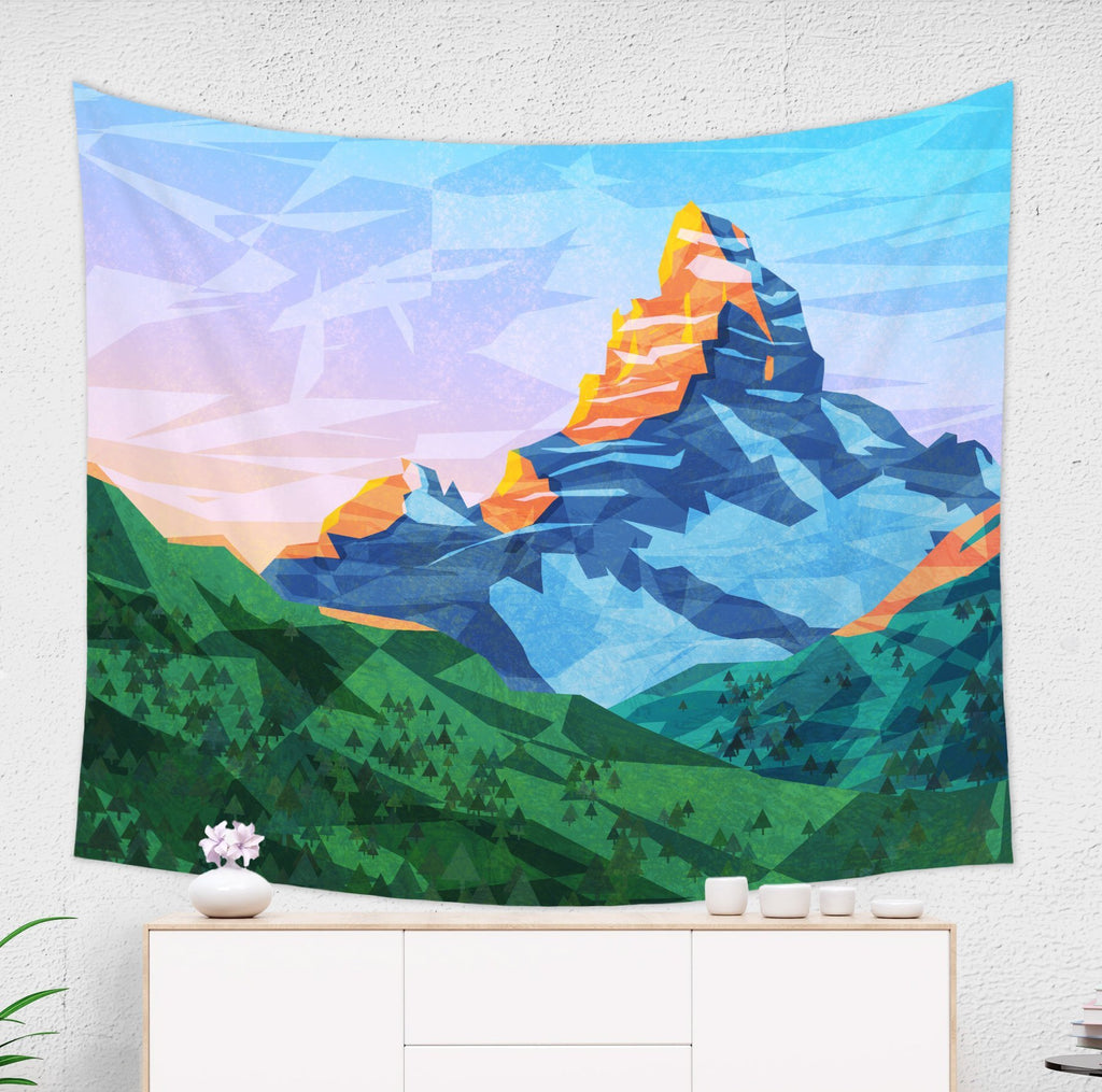 Fable Mountain Tapestry Inspired Wall Hanging for Kids Room | Brandless Artist