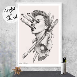 Geometric Surreal Art Print by Thubakabra - Brandless Artist
