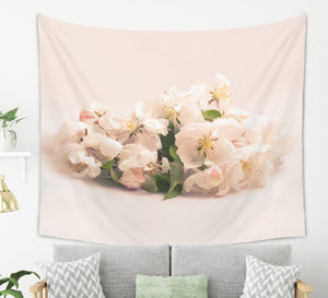 Soft Peach Flower Tapestry - Brandless Artist