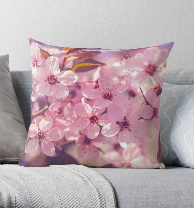 Floral Cushion Cover - Flower Home Decor for Her | Brandless Artist
