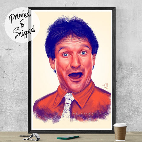 Robin Williams Print - Robin Williams Fanart | Brandless Artist