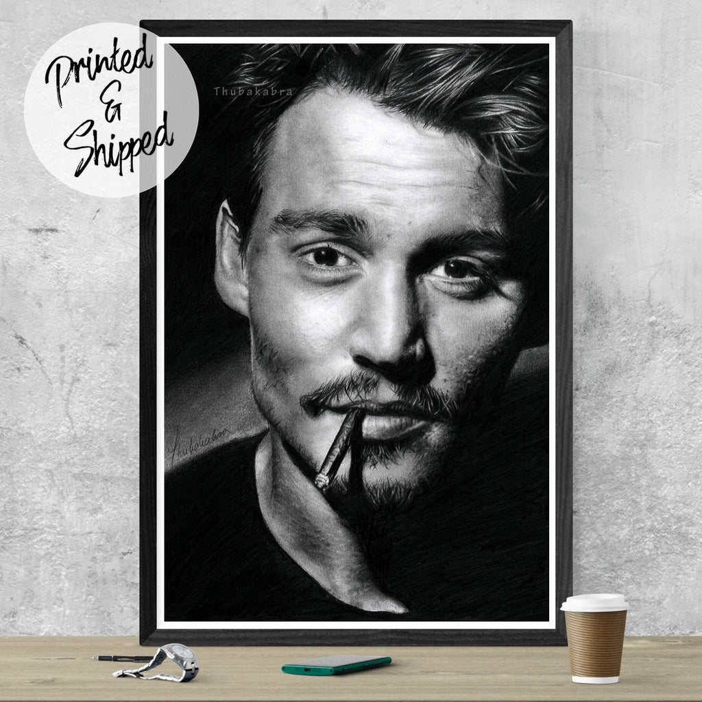Johnny Depp Drawing - Johnny Depp Print | Brandless Artist