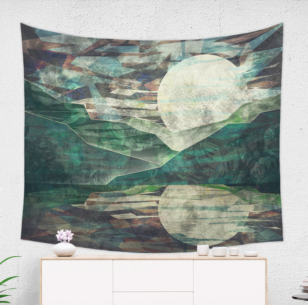 Night Mountain wall tapestry hanged on wall