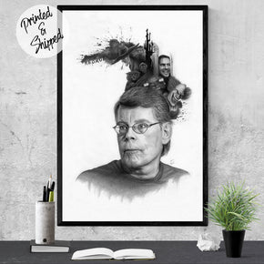 Stephen King Art - Stephen King Print | Brandless Artist
