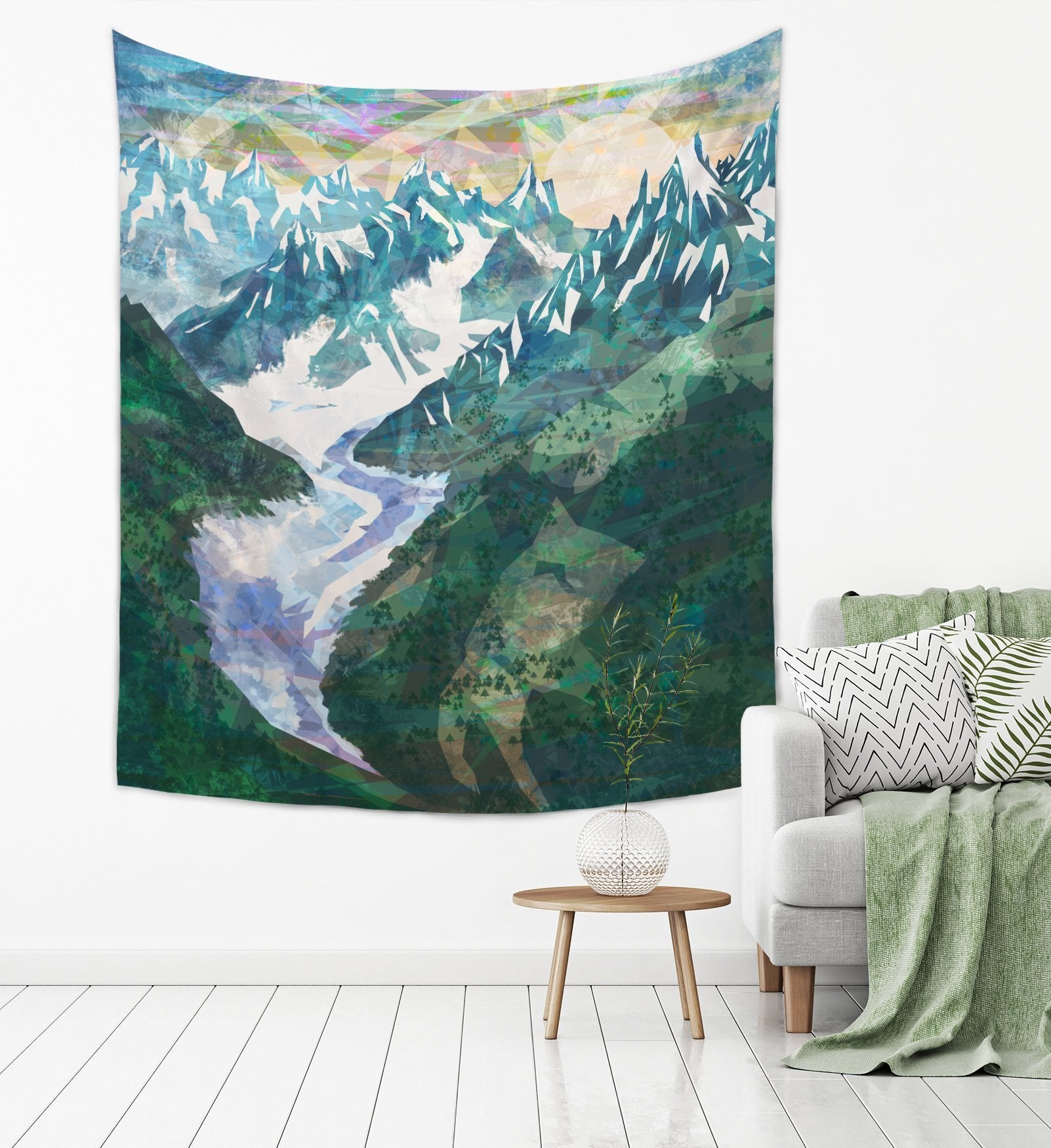 Snowy Mountain Tapestry - Brandless Artist